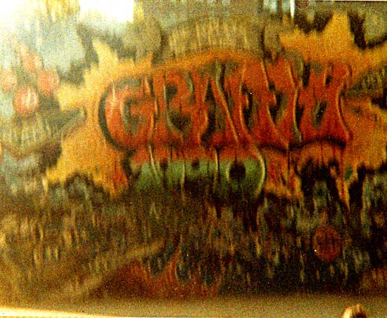 graffiti photos from early 1980-90s album rescued from garbage in Queens NYC 1998
